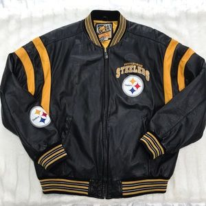 Pittsburgh Steelers Leather Vintage Jacket